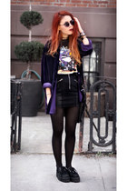 purple Saltwater Gypsy blouse - black She Inside skirt