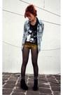 Sky-blue-vintage-jacket-tawny-dag-shorts-gray-random-socks-black-atmd-t-sh