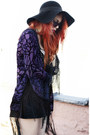 Deep-purple-saltwater-gypsy-cape-black-jeffrey-campbell-shoes