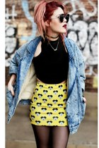 yellow Skinny Bitch Apparel skirt - black romwe shoes