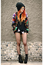 black vintage jacket - black Jessica Buurman shoes