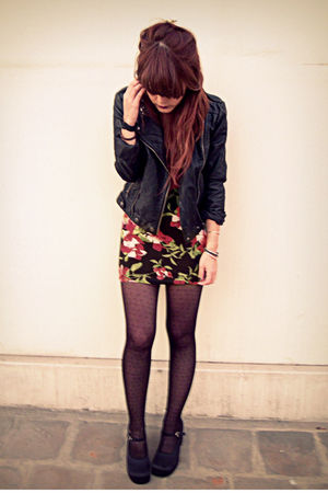 black Forever21 jacket - black vintage Steve Madden shoes