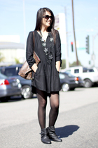 Zara dress - Zara boots - Louis Vuitton accessories