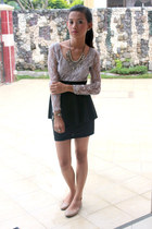 heather gray lace dress Soul Lifestyle dress - silver WAGW necklace