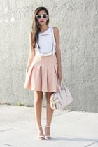 Zara top - Front Row Shop skirt - Zara heels - harness belt BCBG belt