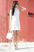 oversized Warby Parker sunglasses - lace ELLIATT dress