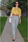 Mustard-mustard-yellow-forever-21-blouse-white-aldo-bag