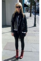 Silence&Noise jacket - Silence&Noise leggings - urbanoutfitters boots - Super gl