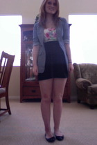 papaya blazer - angle shirt - American Apparel skirt - Charlotte Russe shoes