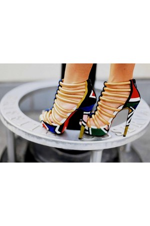 colorful unknown brand heels