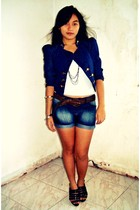 Riot blazer - Terranova intimate - Dollhouse shorts - Parisian shoes - Topshop b