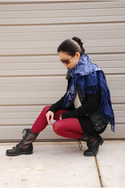 gray Jeffrey Campbell boots - black rock and republic jacket - black American Ap