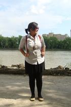 joe fresh style top - Esprit - Divi necklace - skirt - Ardene tights - shoebox s