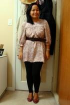 Kamiseta dress - Jacob belt - Vero Moda leggings - payless shoes