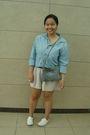 Blue-gap-shirt-beige-urban-behaviour-shorts-white-keds-shoes-blue-thriftaw