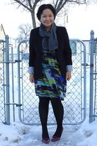 purple Payless shoes - blue Dynamite dress - black Suzy Shier blazer