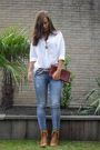 White-holt-renfrew-shirt-blue-forever-21-jeans-beige-scarpasa-shoes-gold-n