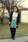 Silver-joe-fresh-style-top-black-old-navy-sweater-green-kismet-skirt-black