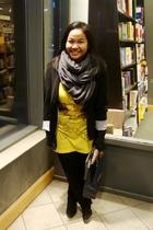 black Suzy Shier blazer - yellow American Apparel shirt - black Dynamite legging