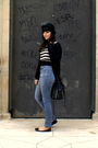 Black-burberry-cardigan-blue-thomas-burberry-jeans-black-topshop-shoes-bla