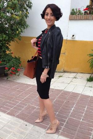 black Zara jacket - LIFE IN KENIA SHOP bag - LIFE IN KENIA SHOP bracelet
