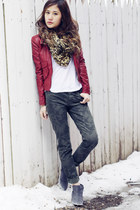 ankle boots sam edelman boots - camo madewell jeans - 7 for all mankind shirt