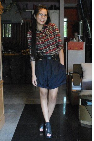 American Boulevard top - dark gray my dads shorts - Parisian Jr wedges