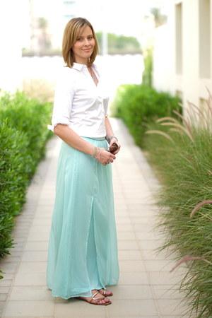 Promod skirt - Zara shirt - Steve Madden sandals - Accessorize necklace