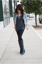 Old Navy jacket - Forever 21 leggings - Jeffrey Campbell boots - Forever 21 top