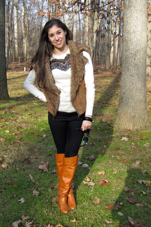 lace ted baker sweater - Chinese Laundry boots