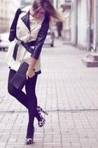 coat - purse - heels - stockings