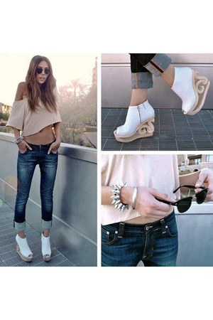 bracelet - shoes - jeans - sunglasses - top