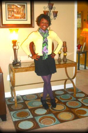 purple stockings - cotton Target scarf scarf