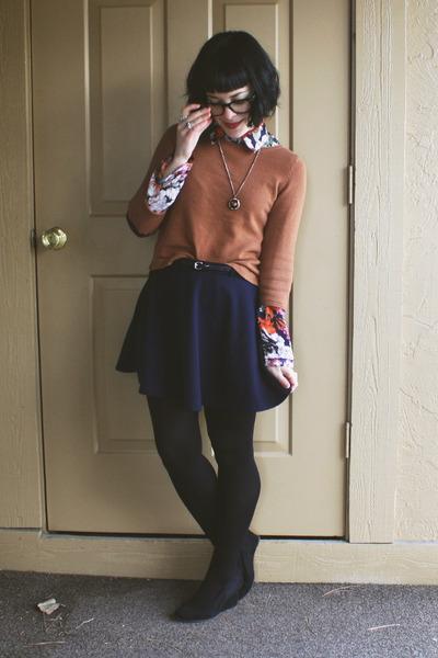 orange wholesale-dressnet blouse - burnt orange elbow patch H&M sweater