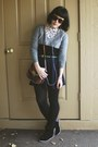 Navy-forever21-skirt-heather-gray-color-block-old-navy-sweater