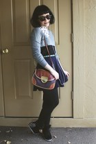 burnt orange color block new look bag