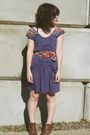 Purple-anthropologie-dress-brown-blowfish-boots-red-f21-belt-brown-ralph-l
