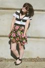Pink-target-skirt-black-rampage-shoes-white-old-navy-t-shirt-blue-vintage-