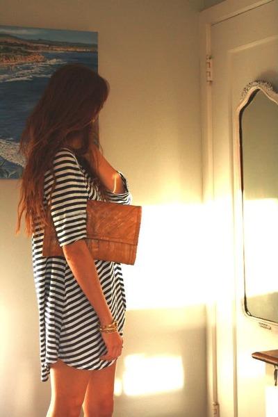 leather bag Marc Jacobs bag - blue striped Ebay dress