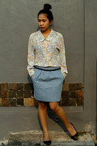 Gaudi skirt - Brings Back shirt - Bridge belt - the sandals flats