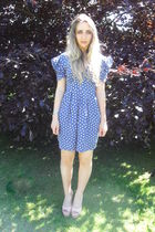 blue Topshop dress - pink Kurt Geiger shoes