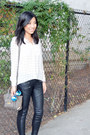 Nine-west-boots-leather-zip-cotton-on-leggings-forever21-shirt