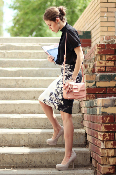 asos pumps - Zara skirt - Marc Jacobs blouse - tissot watch