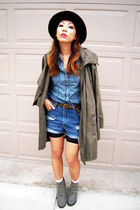 green H&M jacket - gray Charlotte Russe shoes - black lace Forever 21 leggings