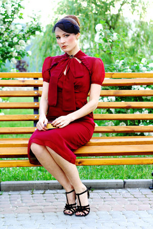 brick red asoscom dress