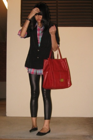 blazer - Wrangler shirt - purse - American Apparel - shoes