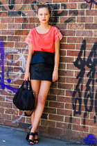 leather Jolie & Deen skirt - pink Jolie & Deen top