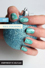sky blue nails accessories