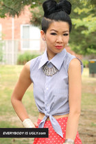 DIY Cropped Tie Top