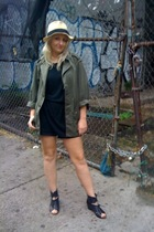 Forever21 hat - vintage jacket - thrifted t-shirt - Zara shorts - studded belt -